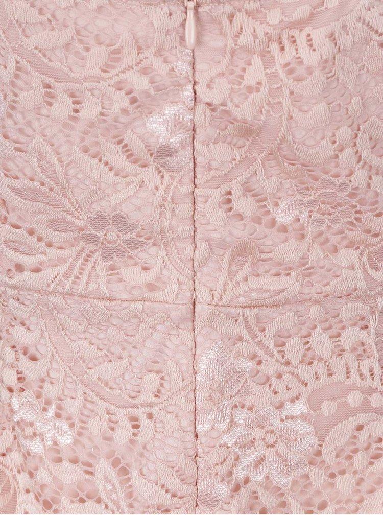 Rochie roz pal ONLY Sierra din dantela
