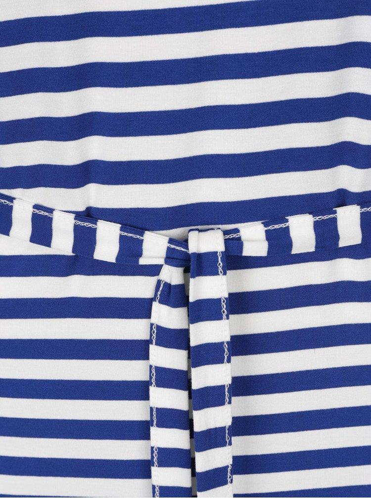 Bílo-modré pruhované maxišaty bez rukávů Broadway Gesine