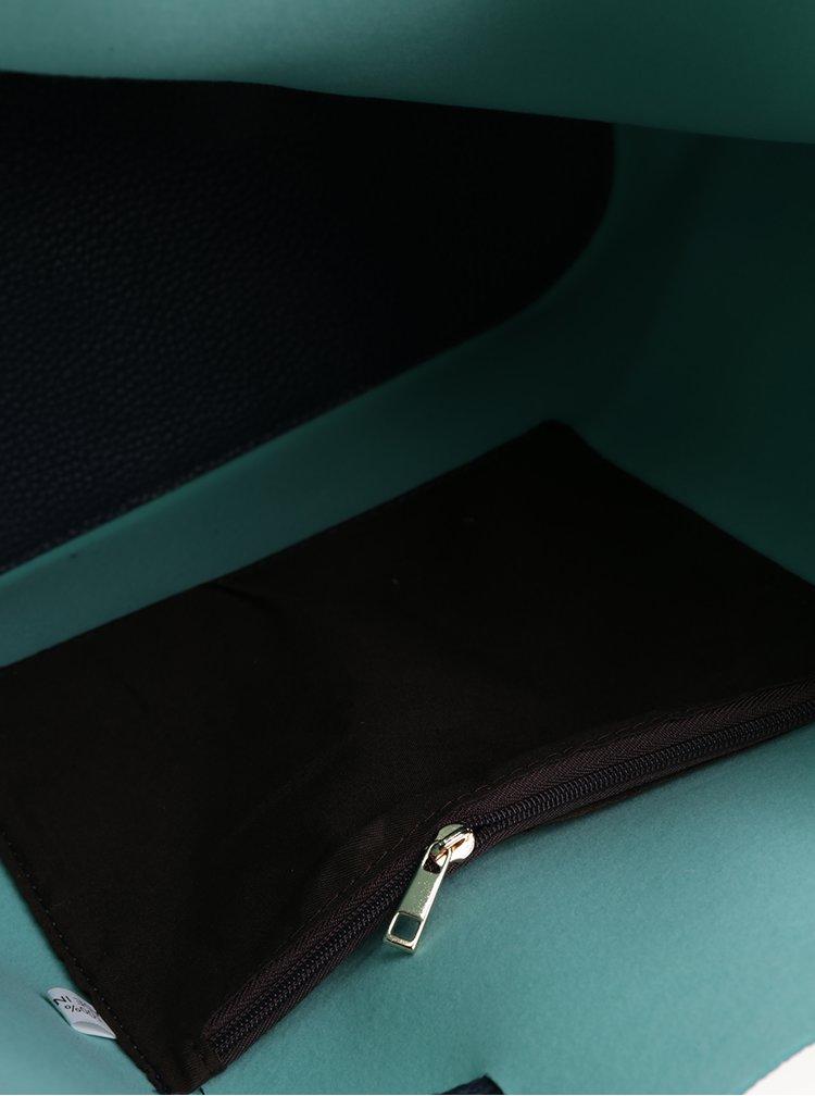 Tmavě modrá vaková kabelka Fez by Fez Secchiello