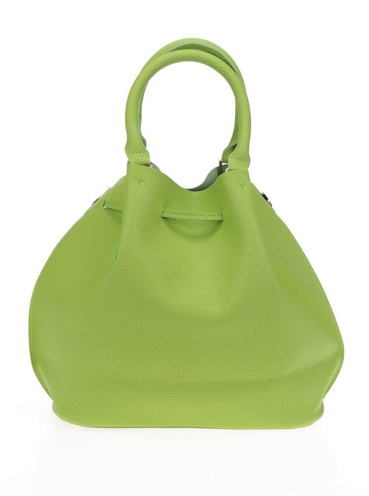 Geanta bucket verde cu bareta crossbody - Fez by Fez Secchiello