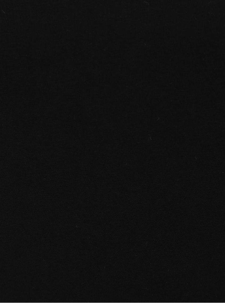 Bluză neagră ONLY Durum cu panglici încrucișate pe gât