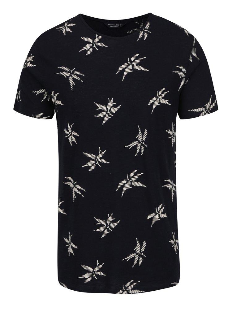 Tricou negru Jack & Jones Milton cu imprimeu