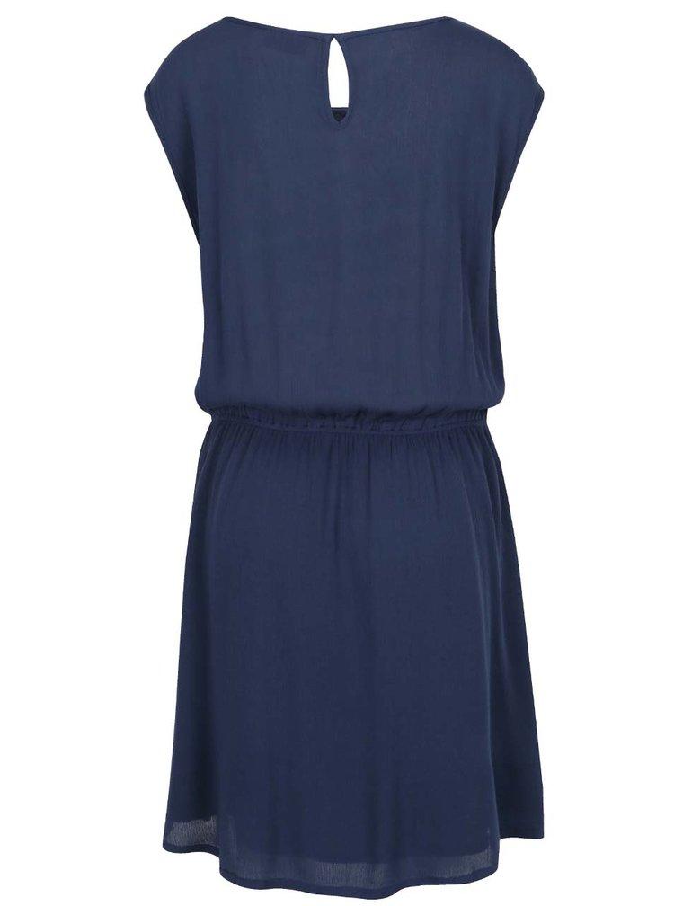 Rochie albastru inchis Broadway Giuliana cu insertii din dantela