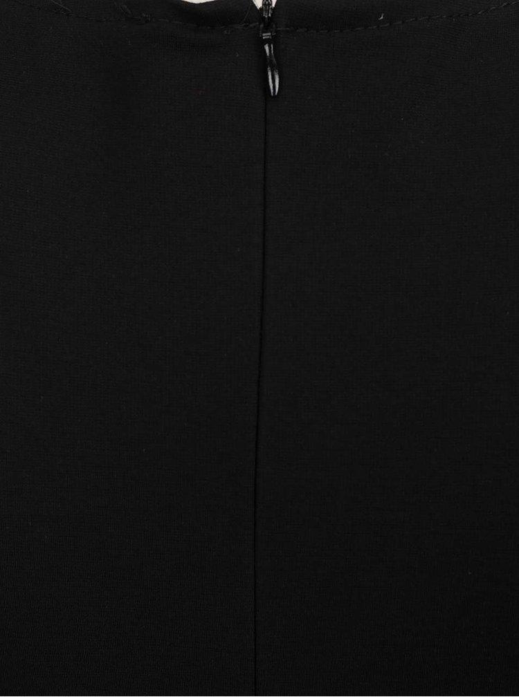 Rochie clos cu decolteu suprapus in V neagra ZOOT