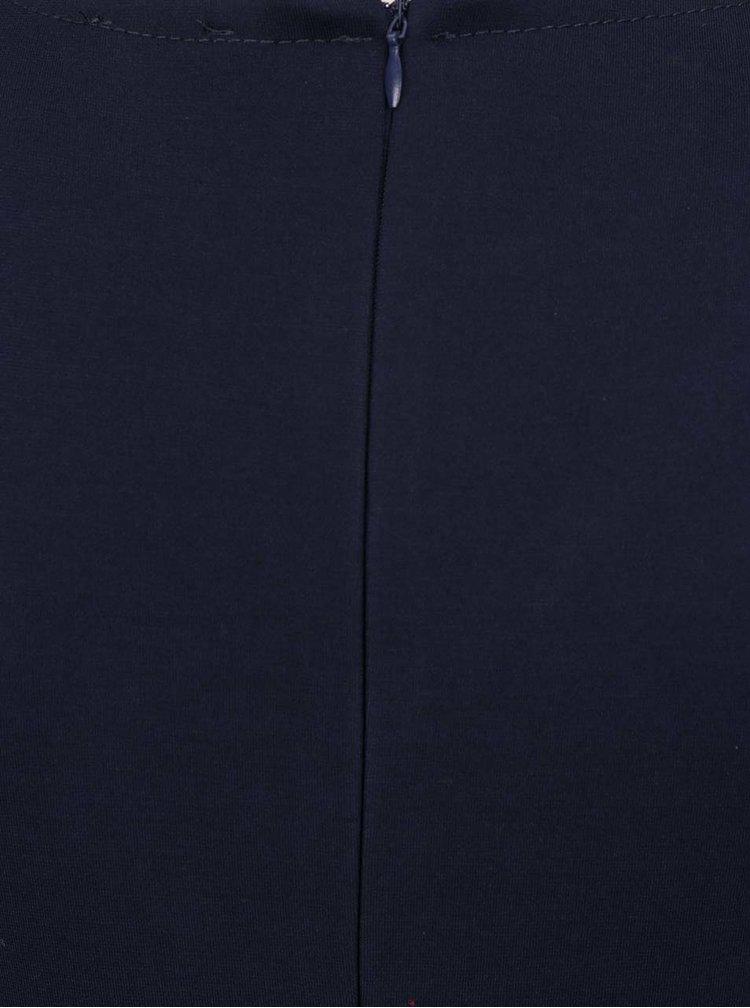 Rochie clos bleumarin cu decolteu suprapus in V ZOOT