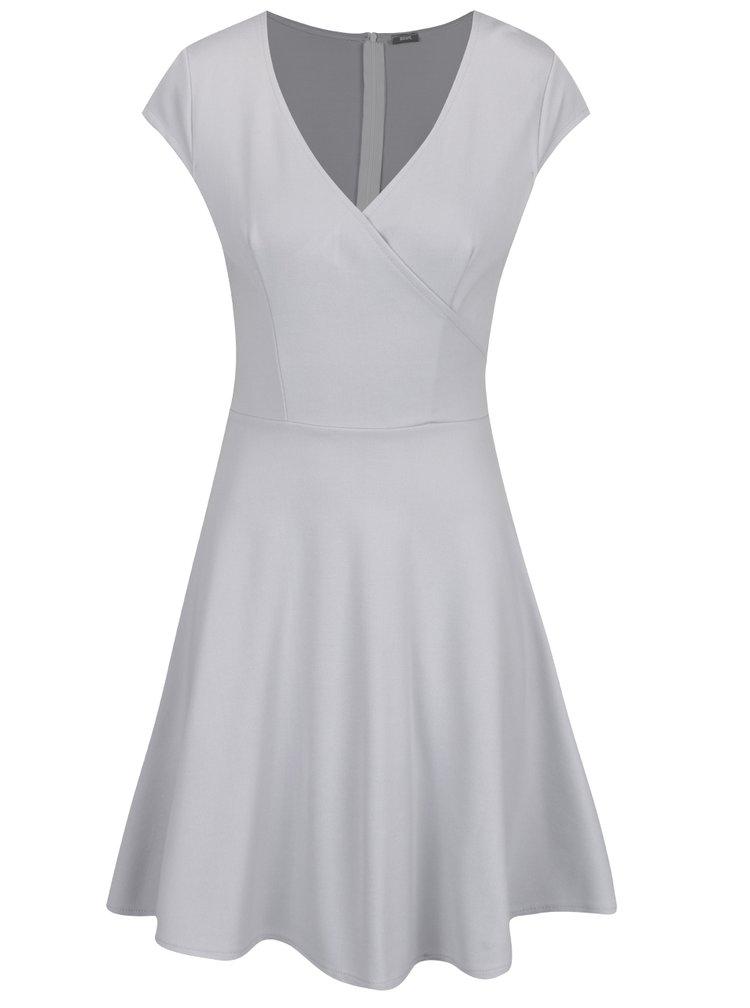 Šedé šaty s překládaným výstřihem ZOOT