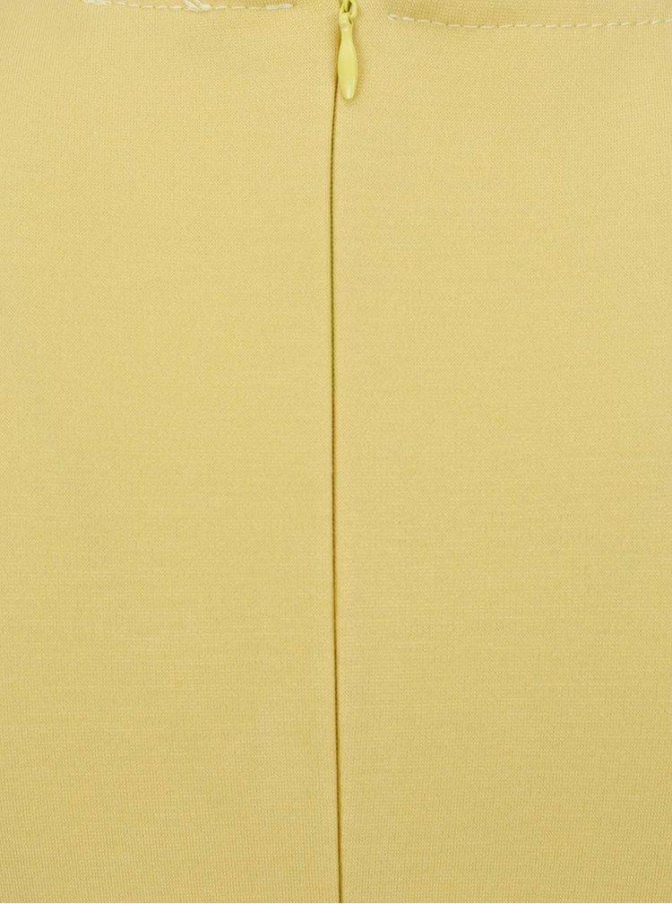 Žluté šaty s překládaným výstřihem ZOOT
