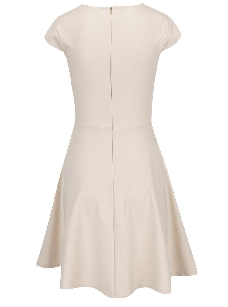 Krémové šaty s překládaným výstřihem ZOOT