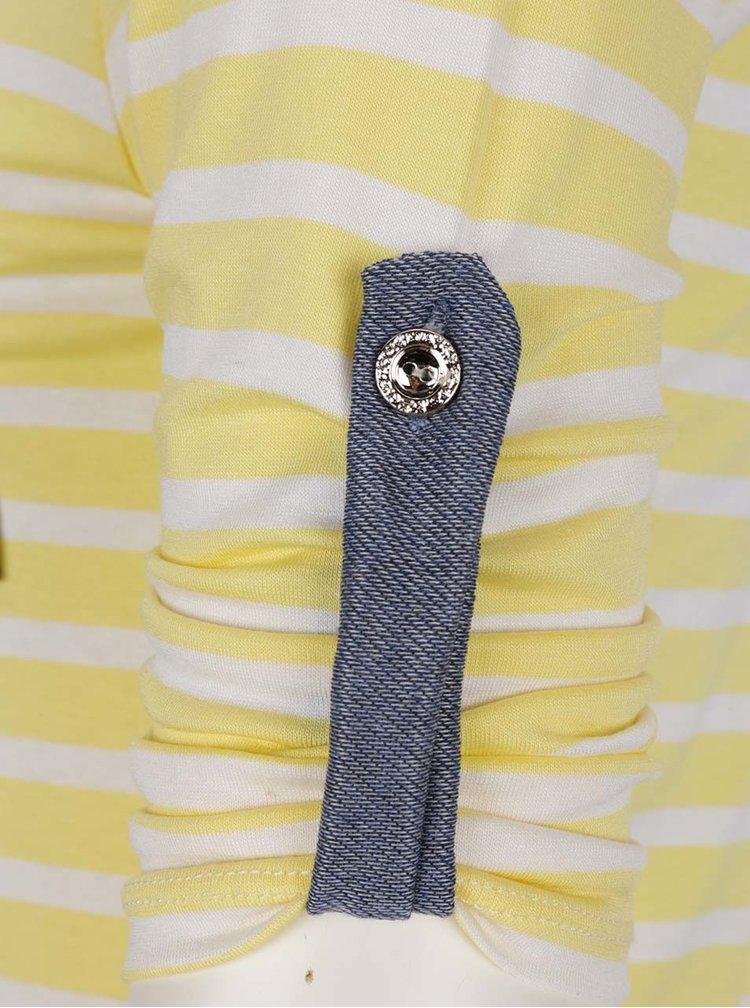 Bluza crem&galben ZOOT cu model in dungi si maneci ajustabile
