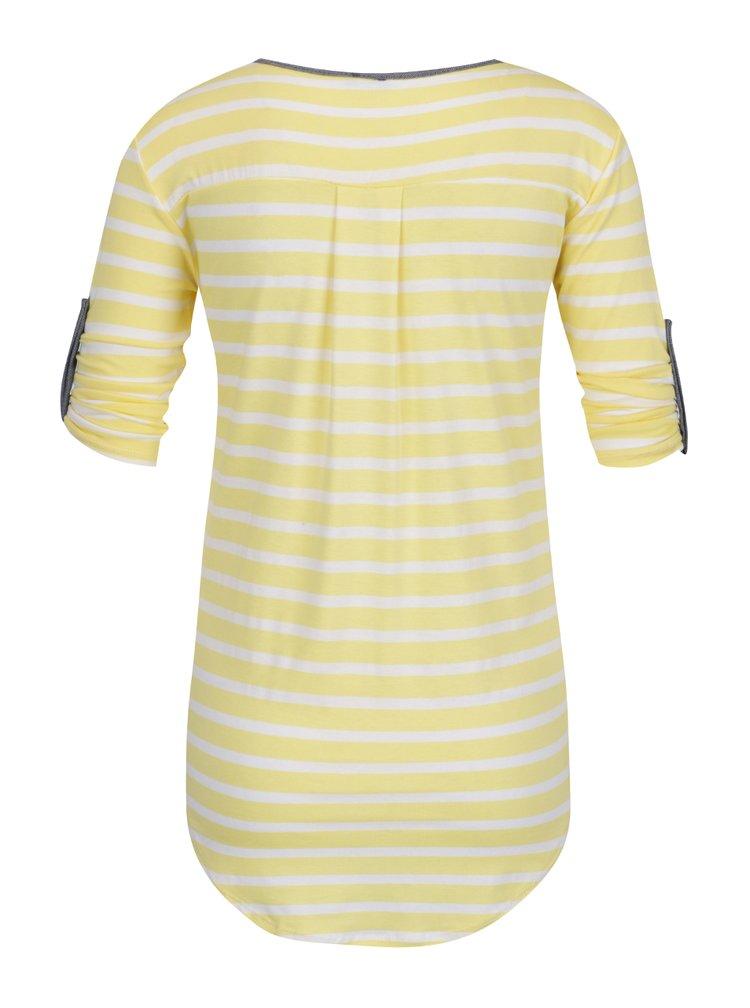 Krémovo-žluté pruhované tričko s kapsou ZOOT
