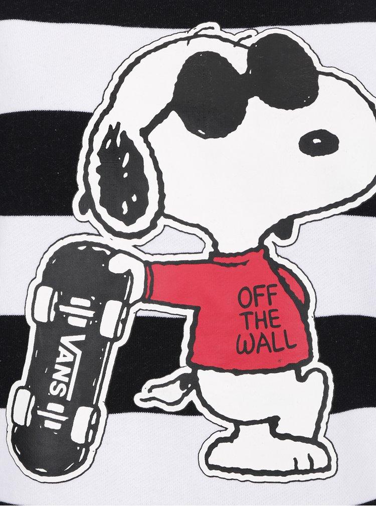 Hanorac alb&negru VANS Joe Cool cu model in dungi
