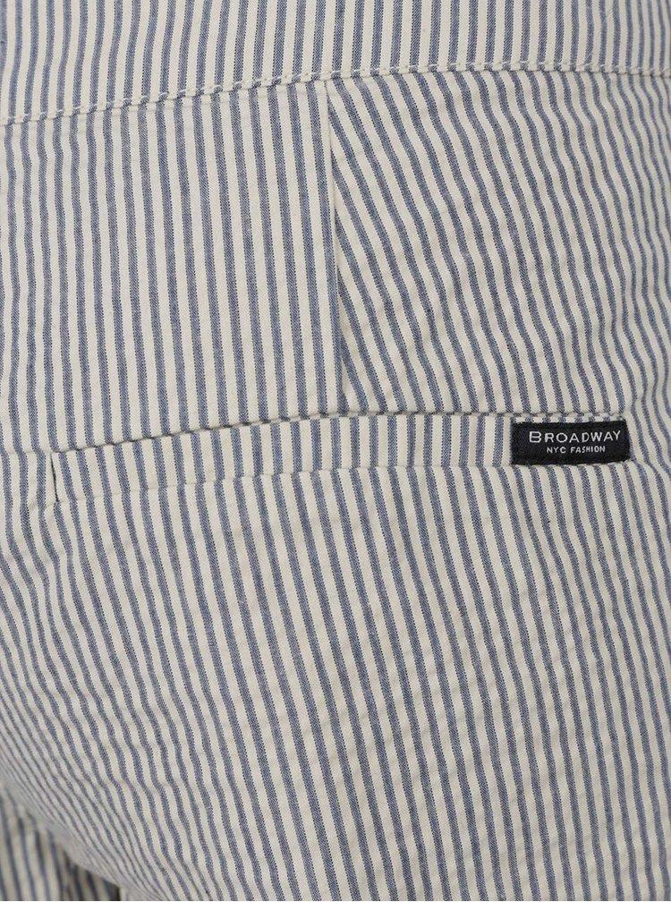 Krémové dámské pruhované zkrácené kalhoty Broadway Beca