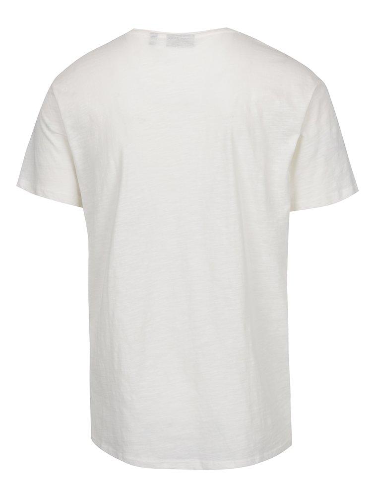 Krémové pánské triko s potiskem Broadway Felipe