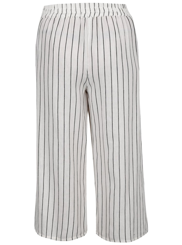 Pantaloni crem TALLY WEiJL  cu model in dungi