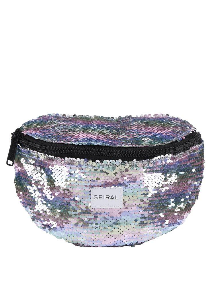 Borsetă pentru femei Spiral Harvard Mum Bag cu paiete și reflexii metalice