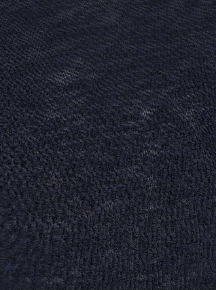 Top albastru închis Haily's Dany cu bretele încrucișate