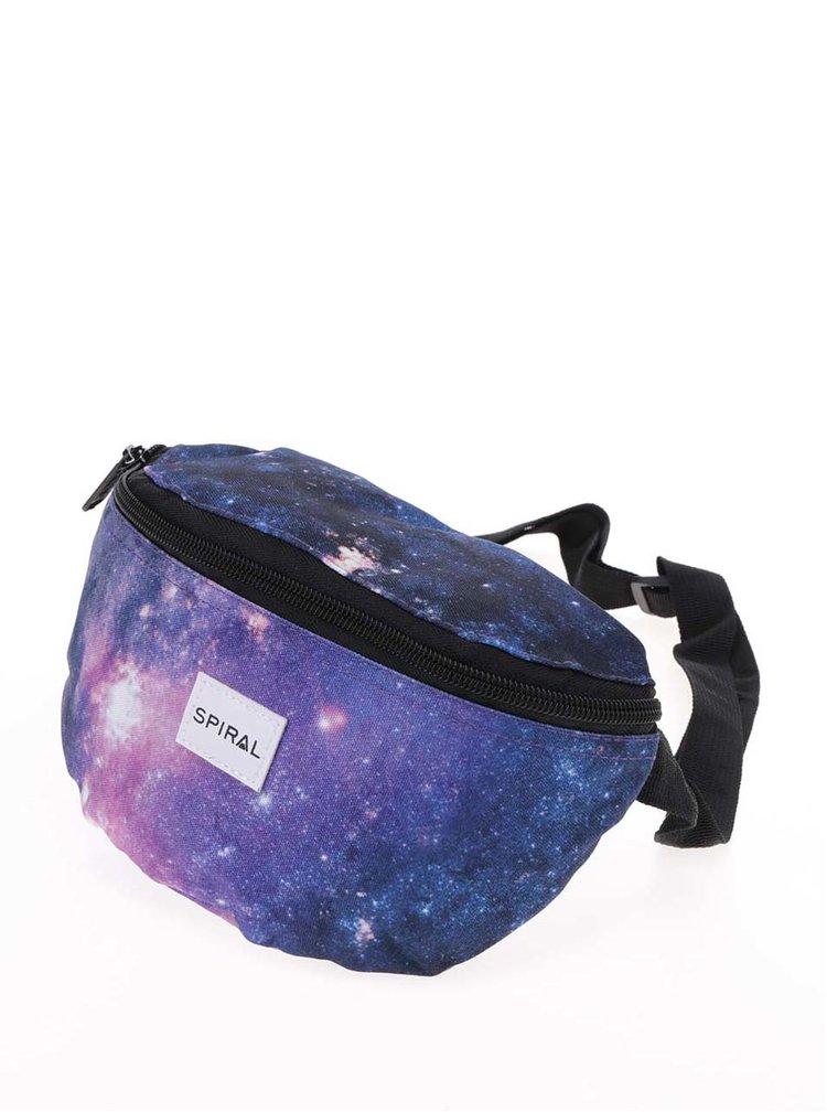 Borsetă albastră unisex Spiral Harvard Mum Bag cu print