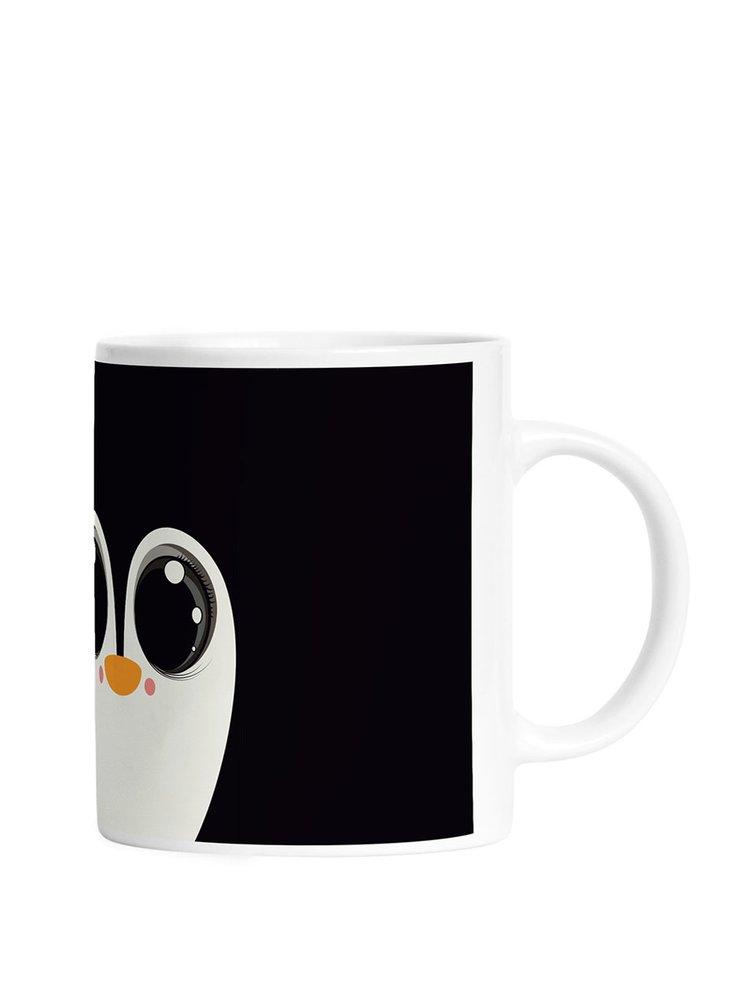 Cană neagră cu pinguin Butter Kings