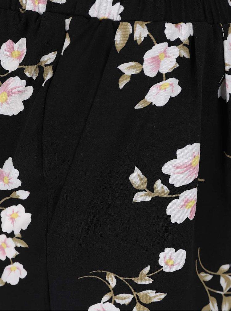Černé květované kraťasy Haily's Rachel