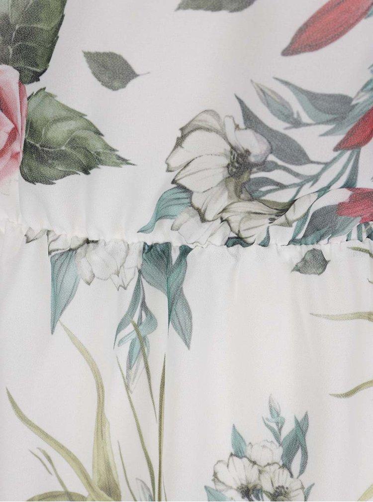 Rochie crem Haily's Kelly cu imprimeu floral