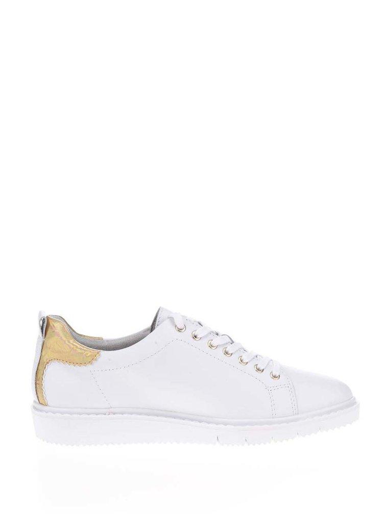 Pantofi sport albi Tamaris cu broderie florală