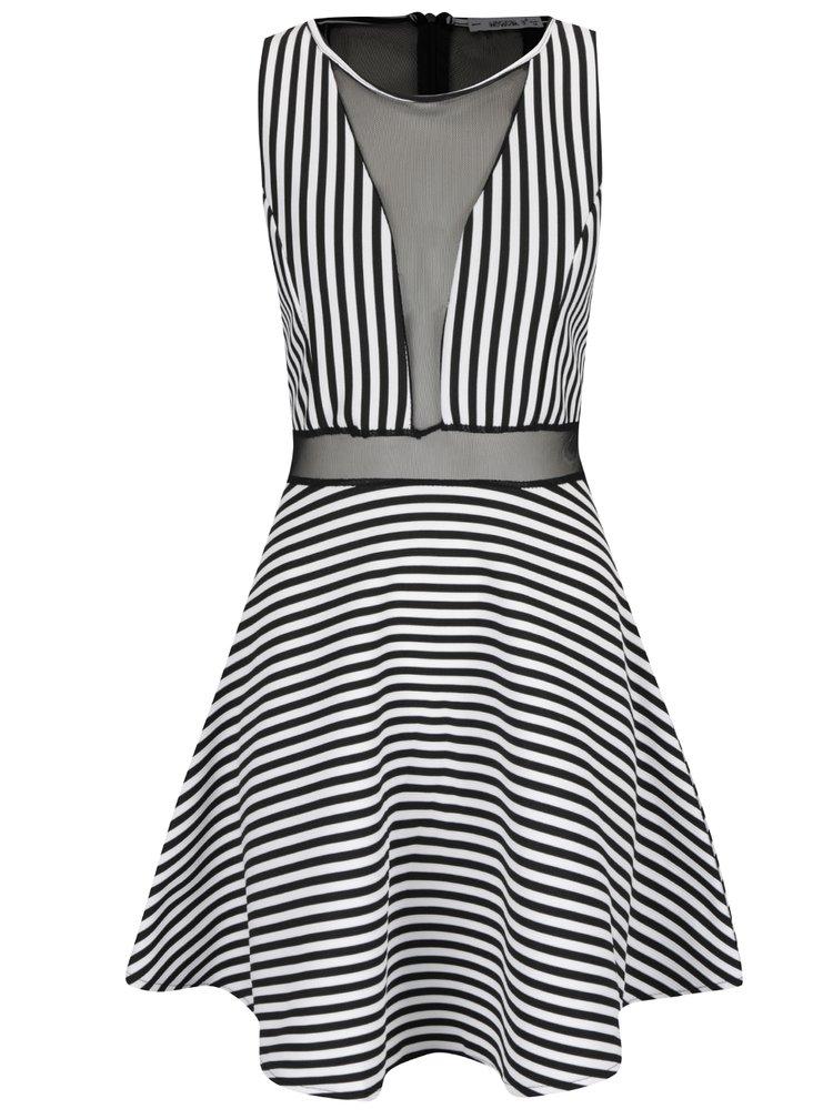 Krémovo-černé pruhované šaty Haily's Kiry