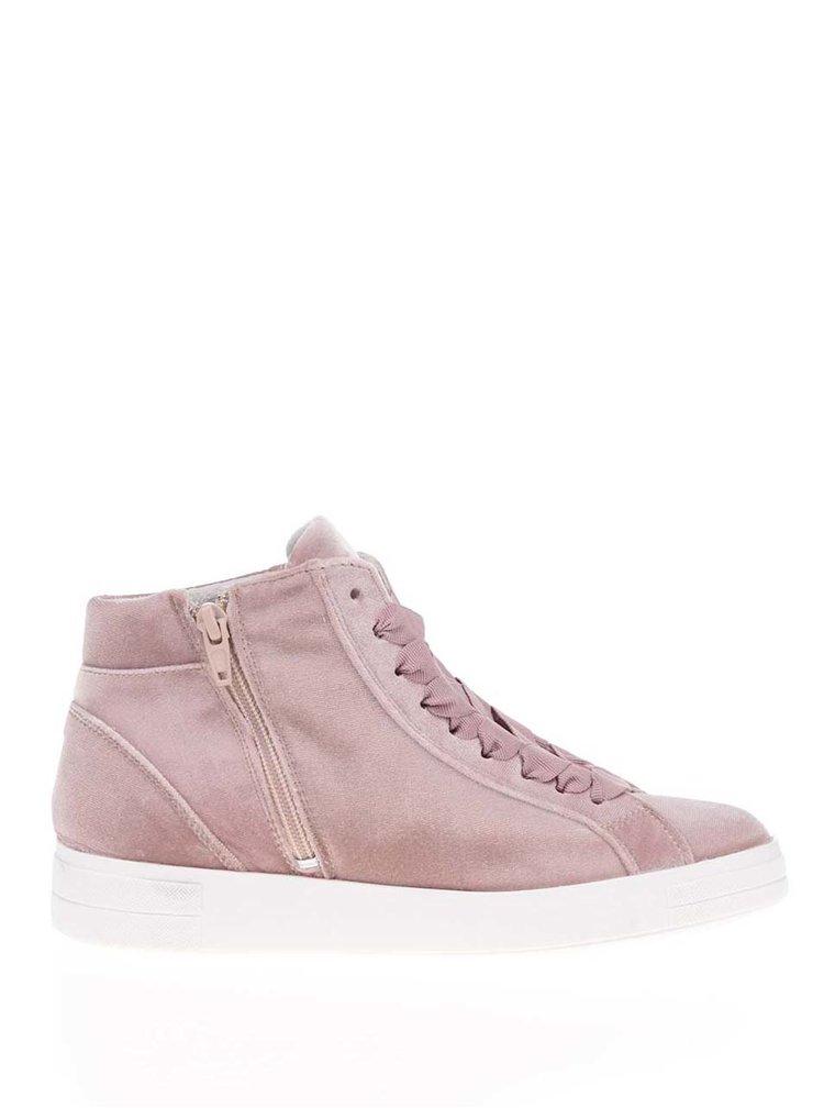 Pantofi sport roz prăfuit Tamaris cu aspect de catifea