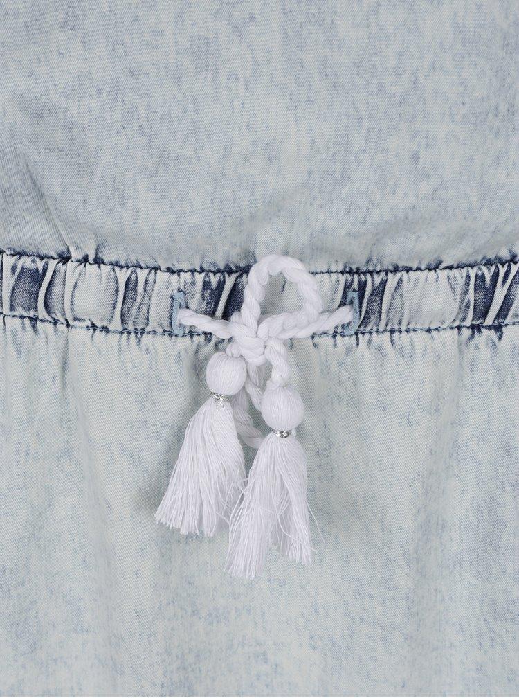 Rochie albastru deschis Rip Curl Pacha din bumbac