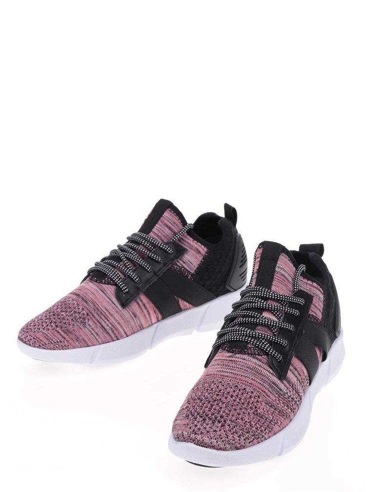 Růžovo-černé tenisky Tamaris