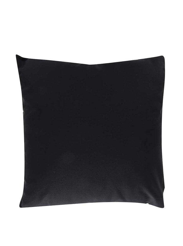 Černo-krémový polštář s motivem mramoru Butter Kings