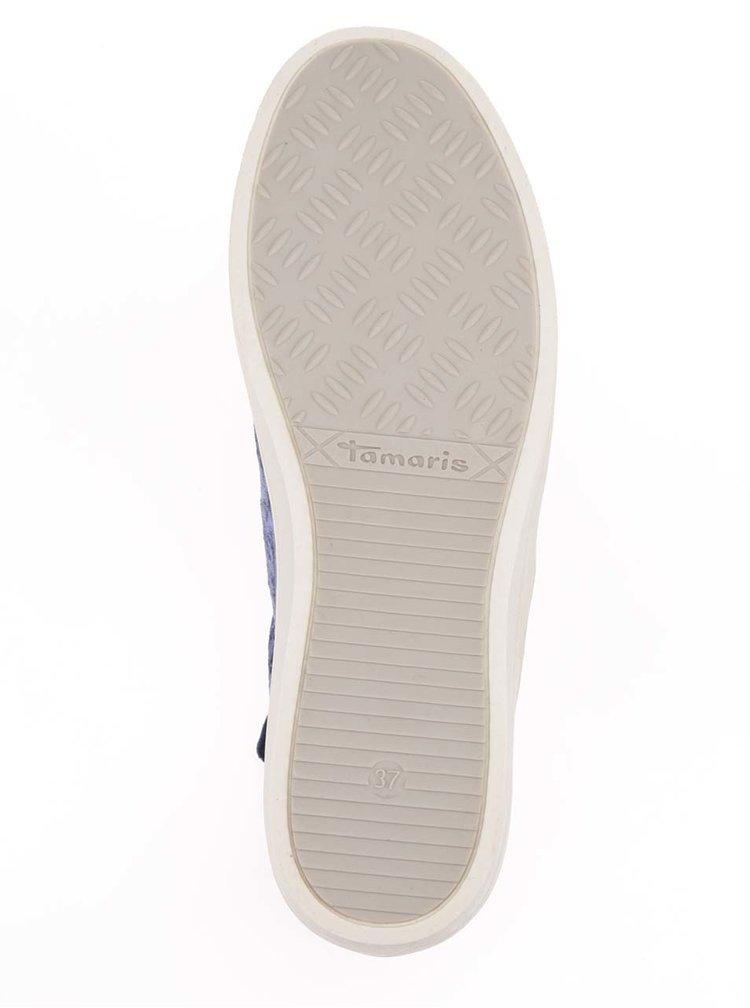 Modré sametové tenisky Tamaris