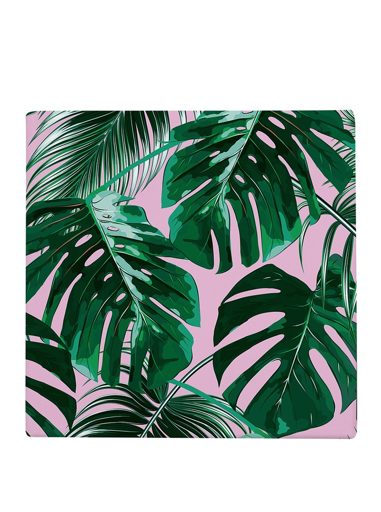 Růžovo-zelený obrázek s motivem listů Butter Kings