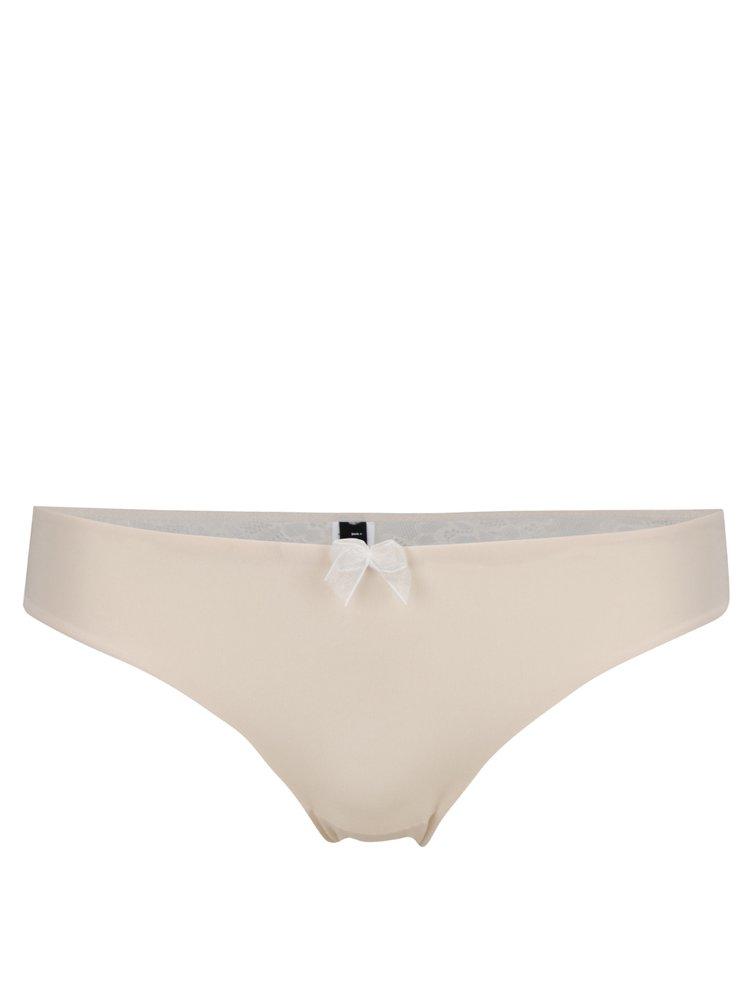 Světle růžové kalhotky s krajkovou zadní částí a mašličkou ICÔNE Scarlette