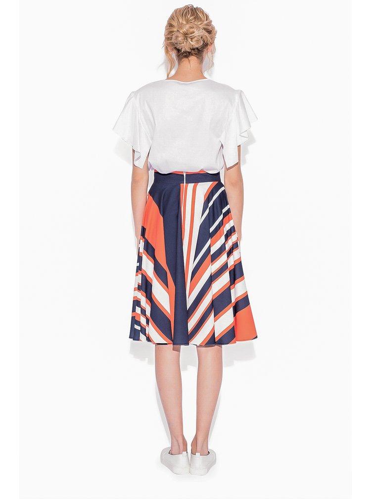 Oranžovo-modrá pruhovaná sukně NISSA