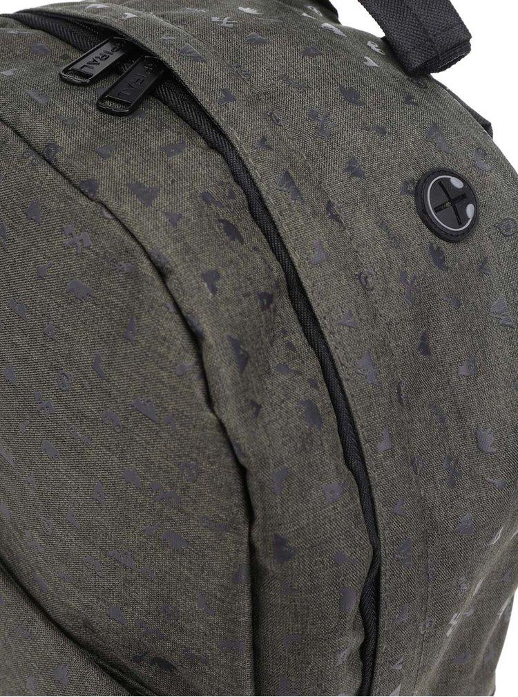 Tmavě zelený unisex batoh s potiskem Spiral 18 l