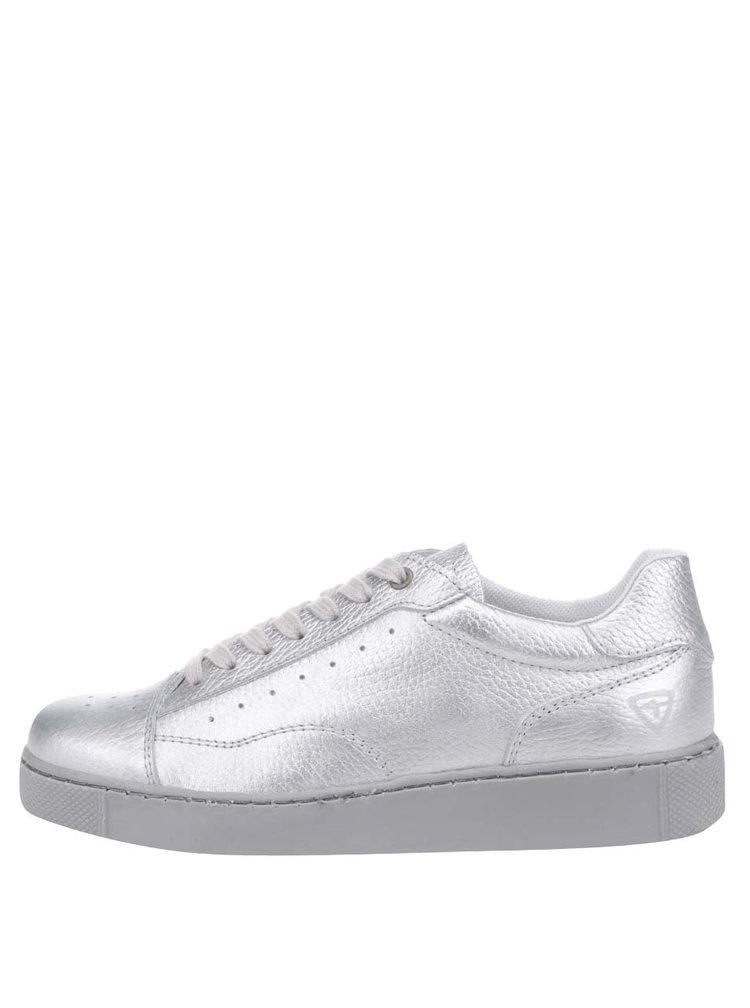 Metalické tenisky ve stříbrné barvě Tamaris