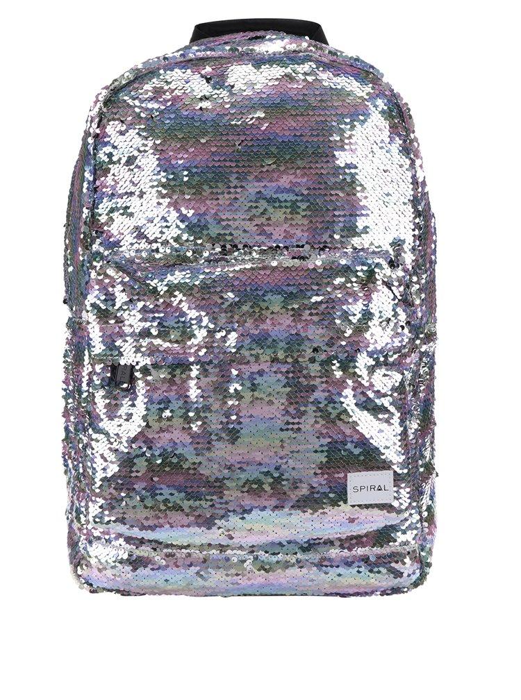 Rucsac de dama Spiral 18 l cu paiete si reflexii metalice
