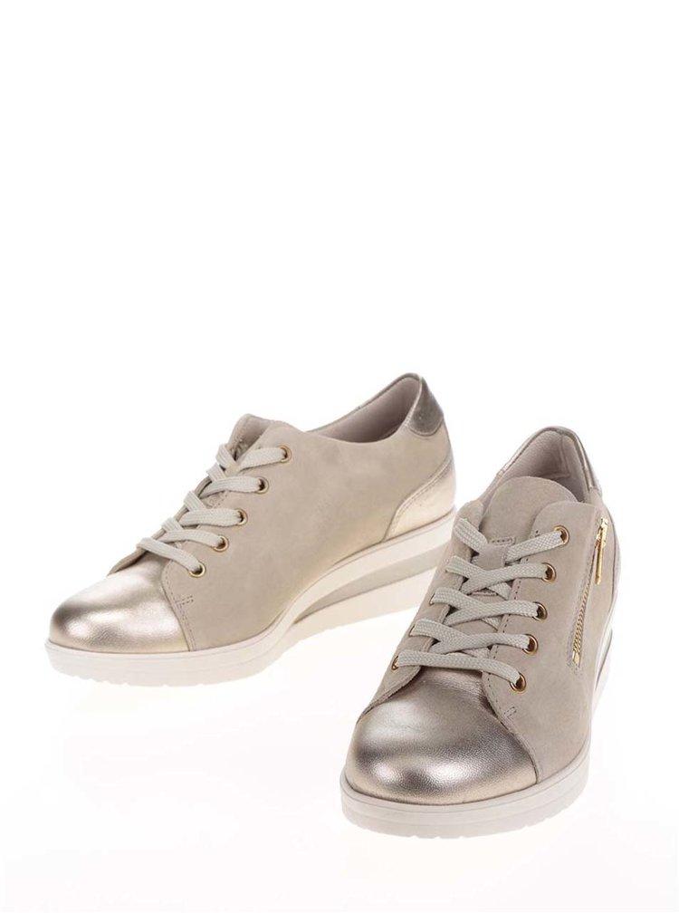 Pantofi sport bej Tamaris din piele intoarsa