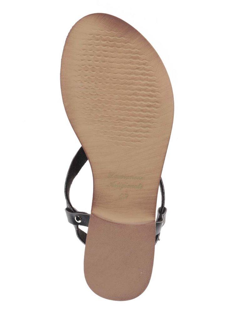Černé sandály Snaha Rio 150