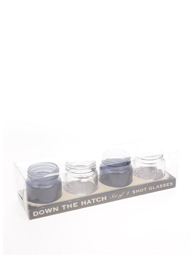 Bílo-modré skleničky na svíčky CGB
