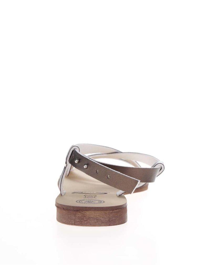 Sandály v bronzové barvě Snaha Rio 150