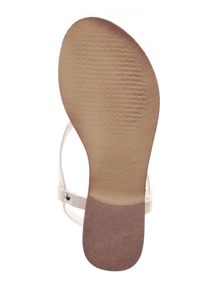 Sandály ve zlaté barvě Snaha Rio 150