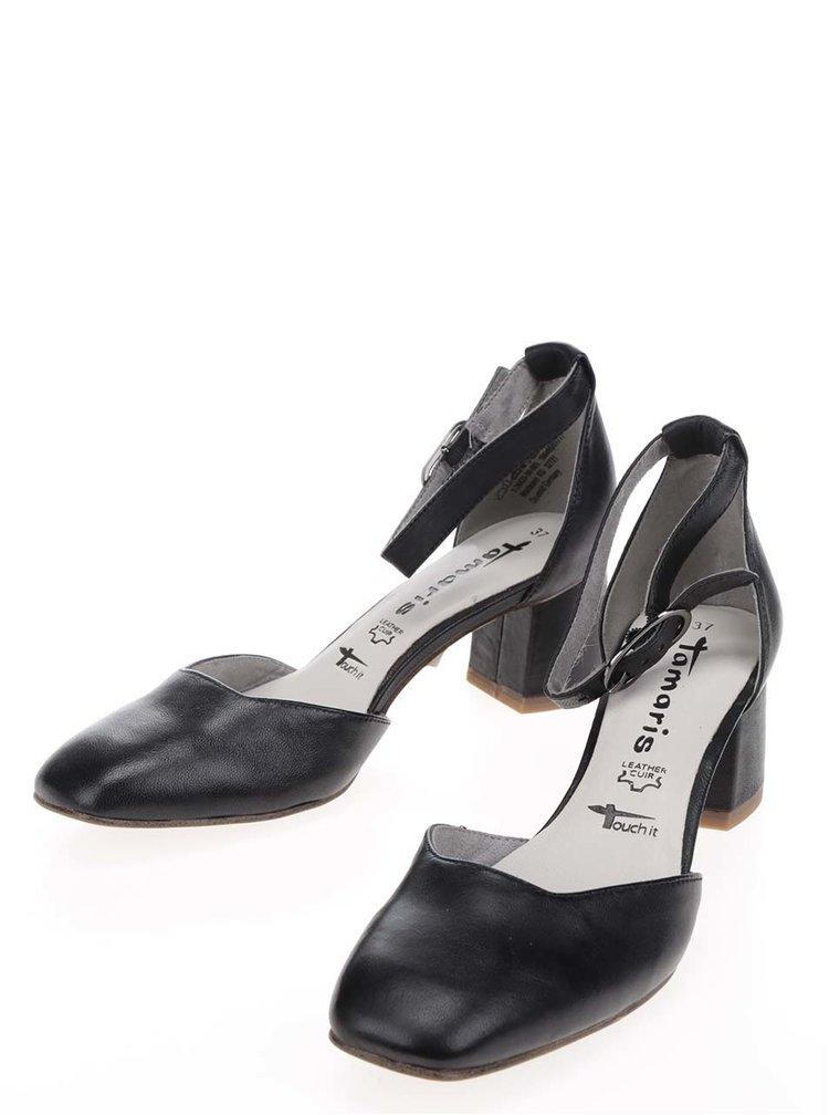 Pantofi negri Tamaris din piele