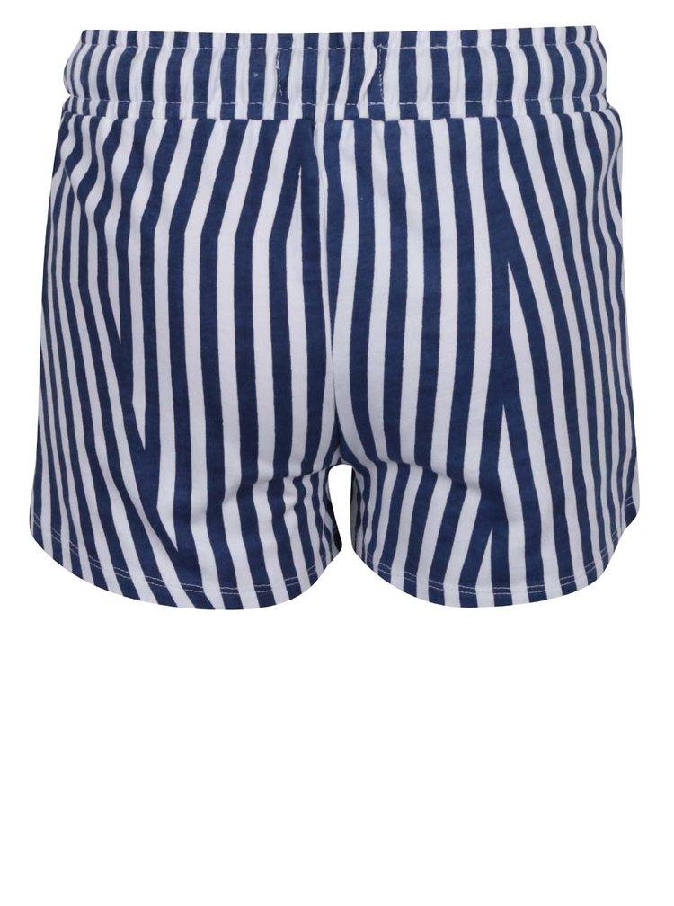 Pantaloni scurți crem&albastru 5.10.15 cu model în dungi  pentru fete