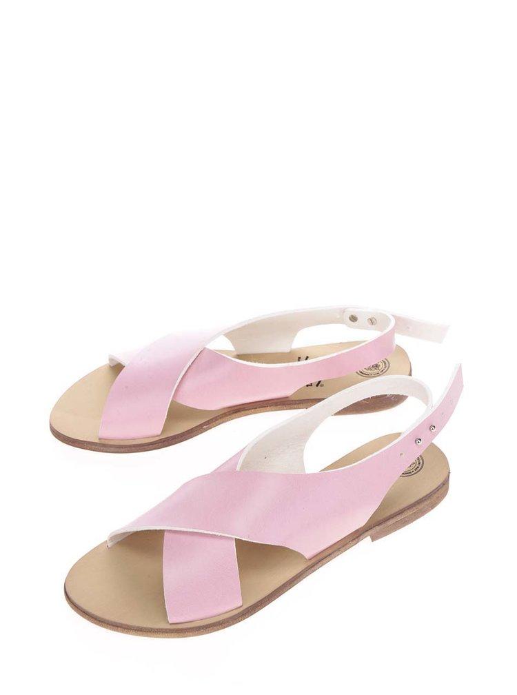 Růžové sandály Snaha Rio 160