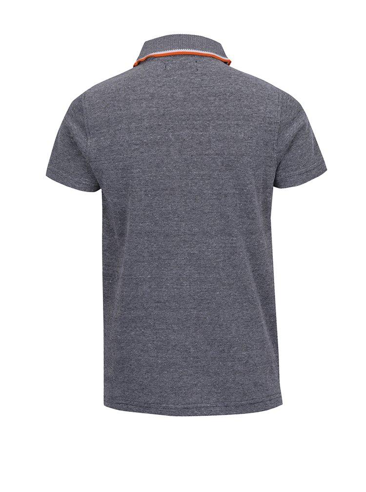 Šedomodré klučičí polo triko s kapsou 5.10.15.