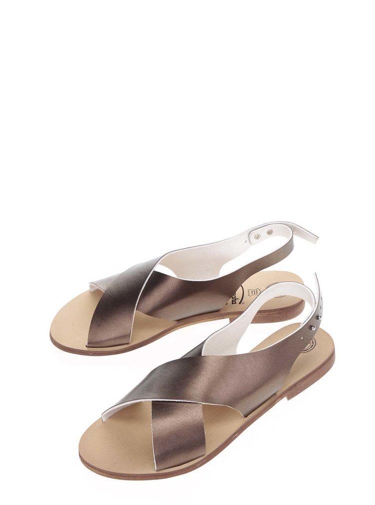 Sandály v bronzové barvě Snaha Rio 160