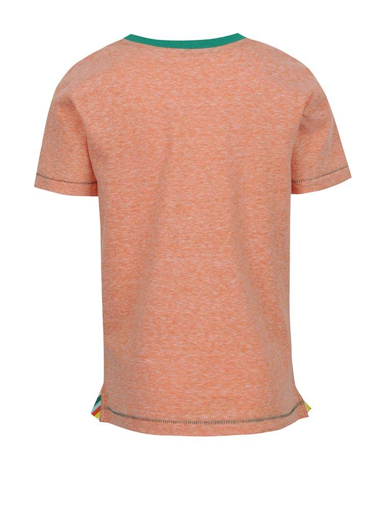 Oranžové žíhané klučičí triko s potiskem  5.10.15.