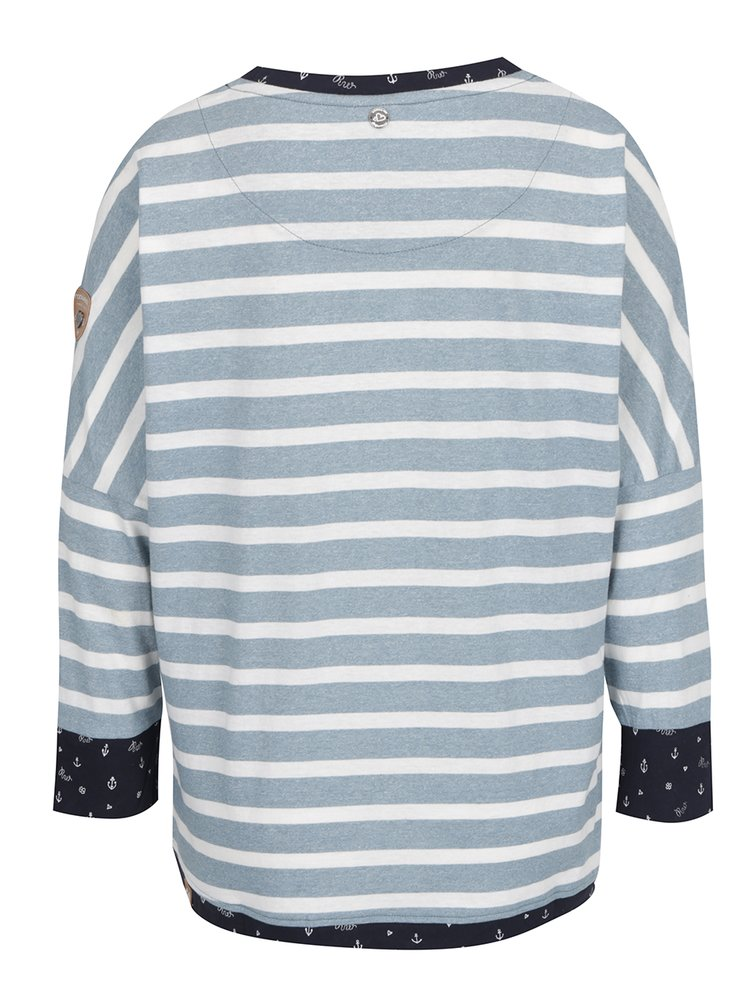 Bluză albastru deschis Ragwear Blanche în dungi