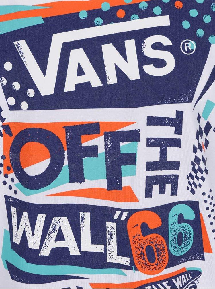 Tricou alb VANS Off the wall cu print